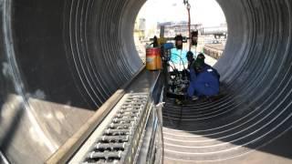 Offshore oil platform welding