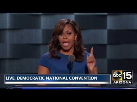 FULL Emotional Michelle Obama Speech Cries over Daughters Democratic National Convention
