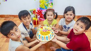 Kids Go To School | Day Birthday Of Chuns Children Make a Birthday Cake Cute