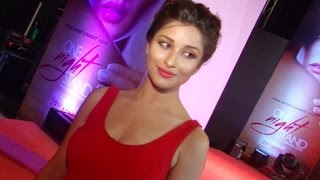 Nyra banerjee ( Madhurima) Hot red dress photoshoot at One Night Stand Official Trailer Launch