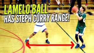 LaMelo Ball Has That Steph Curry Range! Averages 30 PPG at The Battlezone!