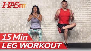 15 Min Leg Workout for Women & Men at Home - Home Legs Exercises