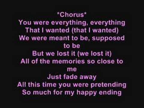 My happy ending with lyrics Avril Lavigne