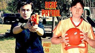 Nerf Patrol Battles the Dodge Ball Guy!