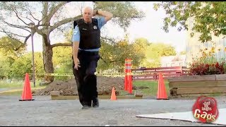 Hip Hop Dancing Cop Does The Moonwalk Gag