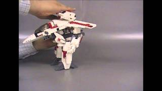 LEGO Macross VF-1 Valkyrie transform video-01