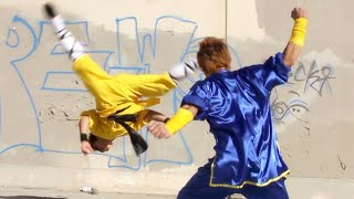 Tiger Kung Fu vs Wushu | Martial Arts Action Scene