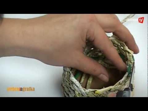 Jak zrobić koszyczek z papieru