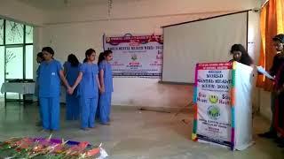 Geetanjali College of Nursing World Mental Health Day 2015 by Batch 2013-17