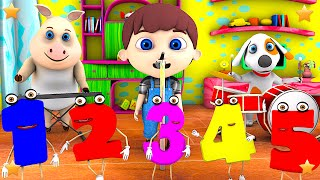 Numbers Song | 3D Kindergarten Nursery Rhyme Song | Baby Songs by Little Treehouse