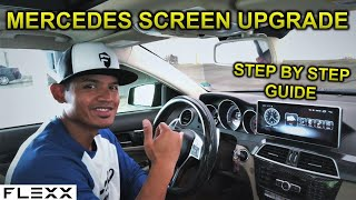 INSTALL A HUGE ANDROID SCREEN ON MERCEDES C-CLASS FACELIFT