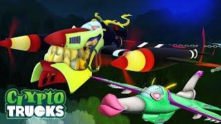 Air Devil VS Peril Tug Of War   CryptoTruck Cartoons For Kids