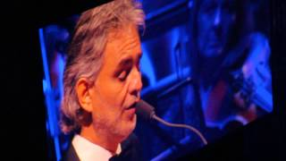 Andrea Bocelli in london 20-11-2014 love me tender