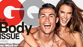 Cristiano Ronaldo and Alessandra Ambrosio Pose Nearly Naked on Sexy 'GQ' Cover