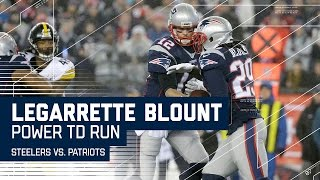 Blount Powers the Patriots Into the End Zone!   Steelers vs. Patriots   AFC Championship Highlights