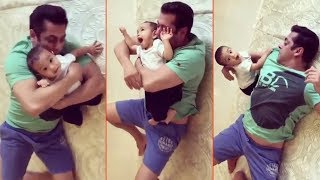 Salman Khan PLAYING With CUTE BABY Ahil At Home