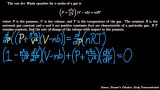 Implicit Differentiation Physics Example