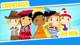 Countries of the World | Kid Song + 60Mins Nursery Rhymes for Children