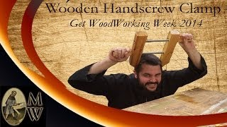 Build a Simple Wooden Handscrew Clamp (Detailed Explanation) (MonkWerks)