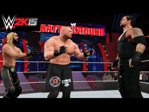 WWE 2K15 Brock Lesnar vs Seth Rollins Battleground 2015 WWE World Heavyweight Championship (PS4)