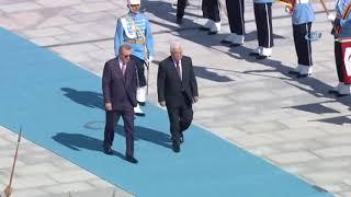 Cumhurbaşkanı Erdoğan, Filistin Devlet Başkanı Abbas'ı Resmi Tören İle Karşıladı