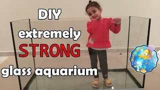 HOW TO Build an Aquarium Glass With Extremely Strong BOTTOM (120g Reef Tank Setup E1)