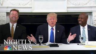 Health Care: President Donald Trump Hosts GOP Senators At White House | NBC Nightly News