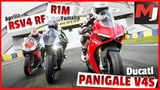 Ducati PANIGALE V4 S, Yamaha R1M, Aprilia RSV4 RF - LE MATCH ! - MOTO JOURNAL