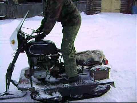 Как сделать снегоход из мотоцикла урал