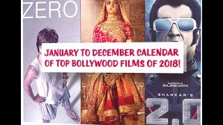 January to December Calendar of Top Bollywood Films of 2018!
