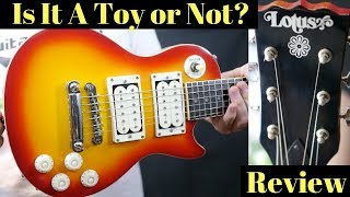 """Tiny Guitar - A Toy Or Not? Vintage Lotus Mini """"Les Paul"""" 
