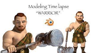 Blender Warrior Modeling Timelapse