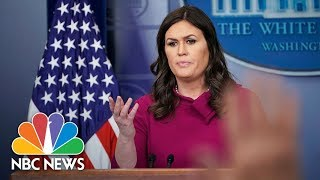 White House Press Briefing - March 20, 2018 | NBC News