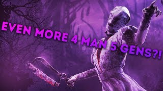 Dead by Daylight WITH...NURSE! - EVEN MORE 4 MAN 5 GENS?!