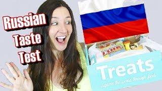 RUSSIAN Treats Unboxing Taste Test