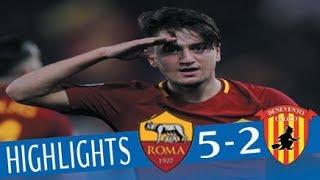 Roma - Benevento 5-2 - Highlights - Giornata 24 - Serie A TIM 2017/18
