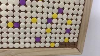Pushpins painting