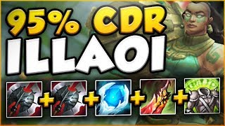 WTF?! NEW RUNE LETS ILLAOI UNLOCK 95% CDR?? ILLAOI SEASON 8 TOP GAMEPLAY! - League of Legends