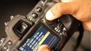 ضبط اعدادت الكاميرا للتصوير بنسق الصور الخام Canon + Nikon