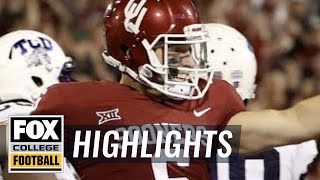 TCU vs Oklahoma | Highlights | FOX COLLEGE FOOTBALL