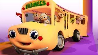 the wheels on the bus | farmees | 3d rhymes | nursery rhymes | kids songs | baby videos