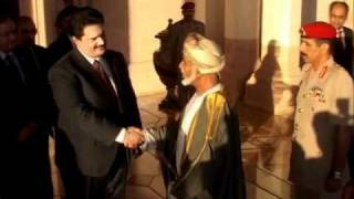 Sardar Nabil Gabol with the King of Oman