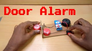 Homemade Door Alarm-How to make Magnetic Door Alarm