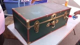 We found these old trunks in dead mans 20 year old Storage auction unit , best unbox #40