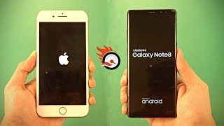 iPhone 8 Plus vs Samsung Galaxy Note 8 - Speed Test! (4K)