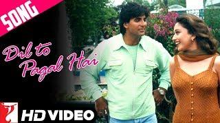 Dil To Pagal Hai Title Song | Shah Rukh Khan | Madhuri Dixit | Karisma Kapoor | Akshay | Lata | Udit