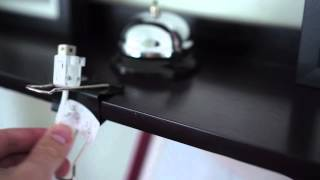 How to Use Binder Clips as Cable Catchers