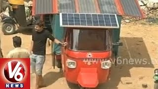 Indian engineer Naveen Rabelli  made a solar auto
