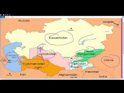 मध्य एशिया (मैप पर समझें )(Geography for IAS PCS CDS NDA CAPF UPSSSC SSC CGL BANK PO)