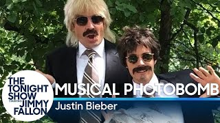 Musical Photobomb with Justin Bieber